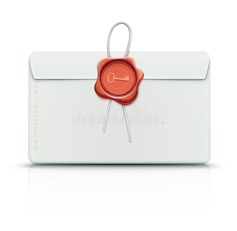 Download Envelope with red wax seal stock vector. Illustration of illustration - 27352189