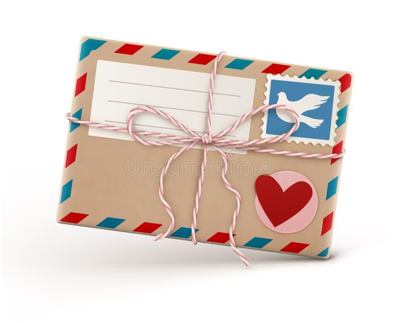 Envelope retro ilustração do vetor