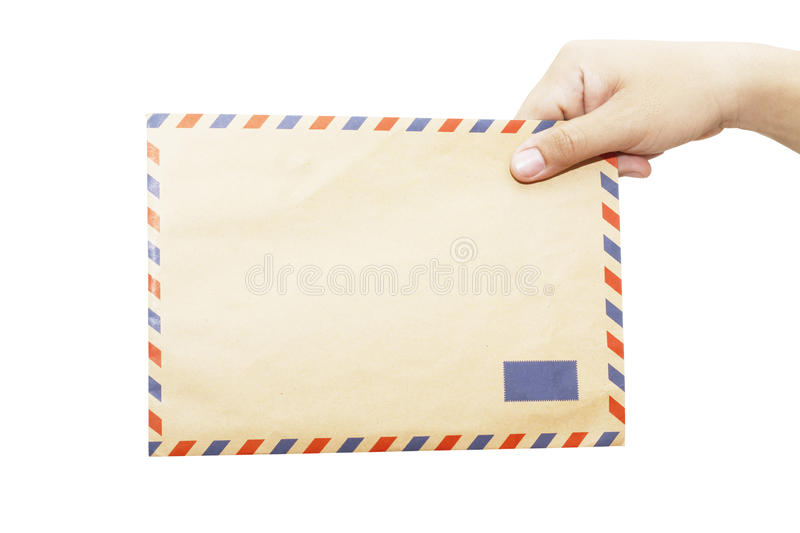 Download Envelope in the right hand stock image. Image of isolated - 32318741