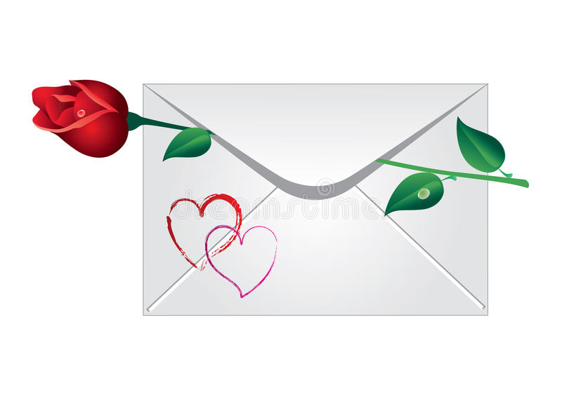 Download Envelope With The Rose Royalty Free Stock Photo - Image: 31666135