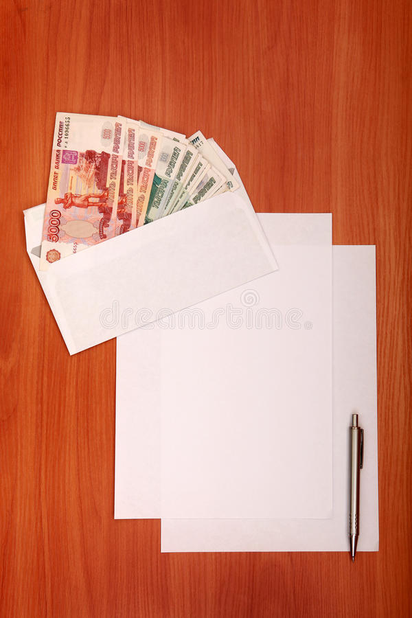 Download Envelope With A Money And Empty Paper Stock Image - Image: 29846307