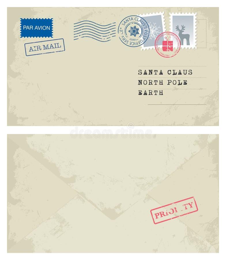 Envelope a Santa ilustração do vetor