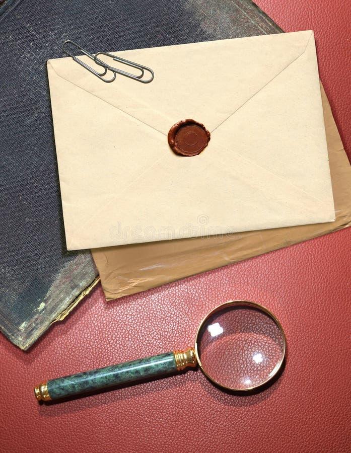 Envelope secreto fotos de stock royalty free