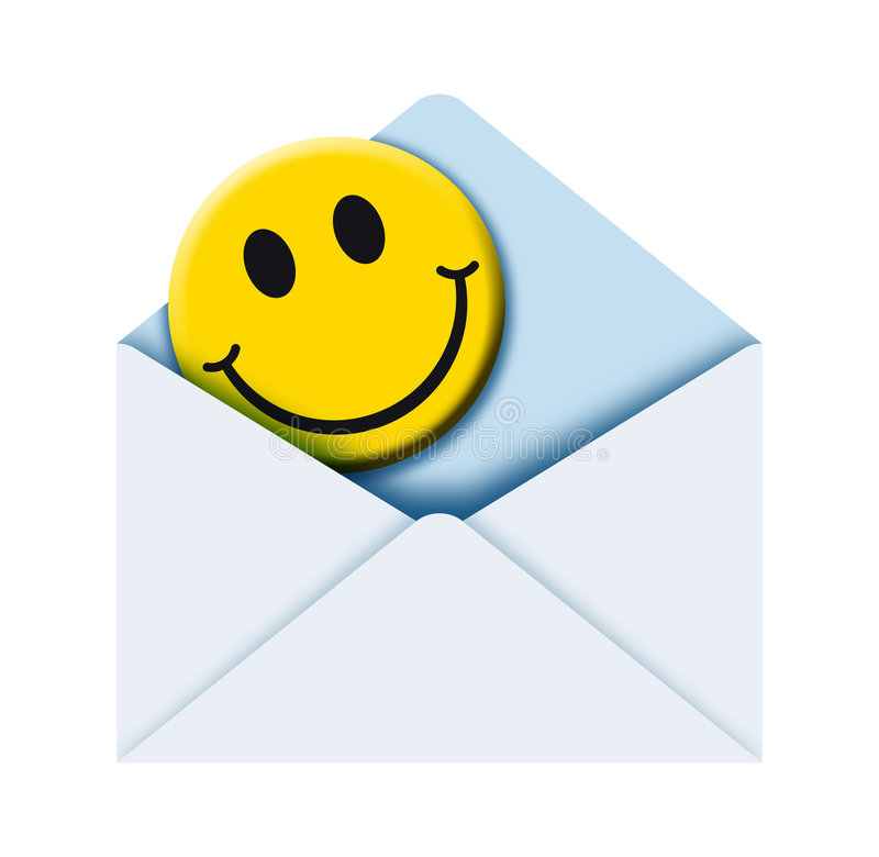 Download Envelope with smile 2 stock illustration. Image of post - 1654408