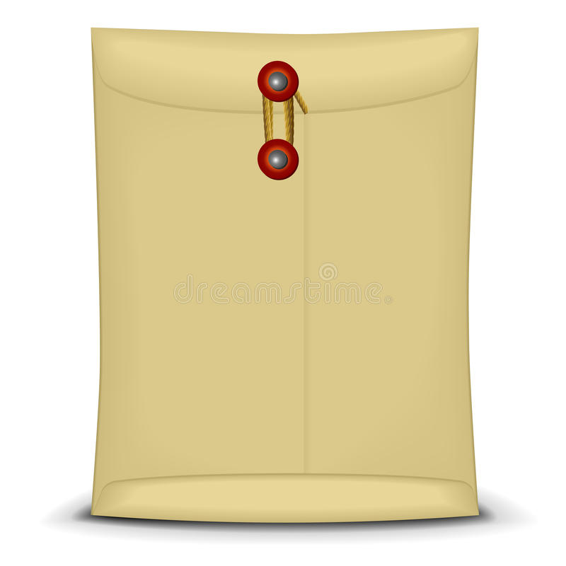 Envelope With String Royalty Free Stock Images