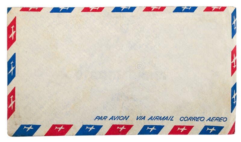 Envelope sujo do correio aéreo do vintage imagens de stock royalty free