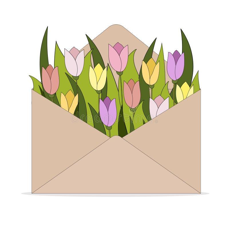 2018 03 01_envelope_Tulip διανυσματική απεικόνιση