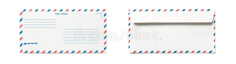 Envelope vazio do correio a?reo isolado imagens de stock royalty free