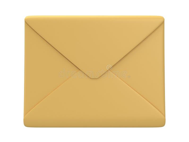 Envelope vazio do correio sobre o fundo branco ilustração royalty free