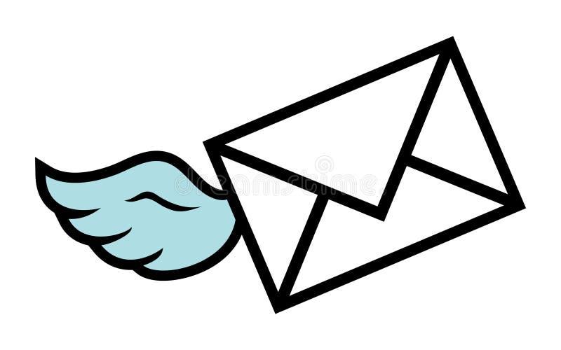 Envelope. A vector illustration of a mailing envelope royalty free illustration
