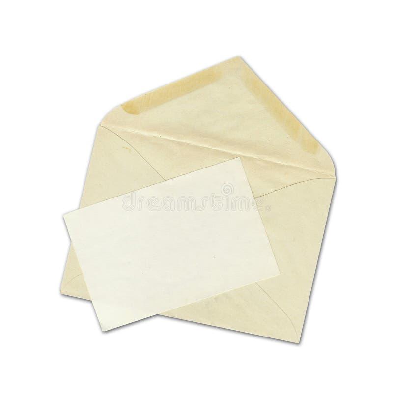 Envelope velho fotos de stock