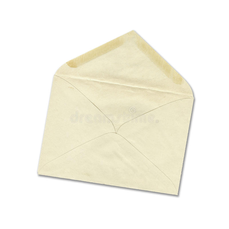 Envelope velho fotografia de stock royalty free