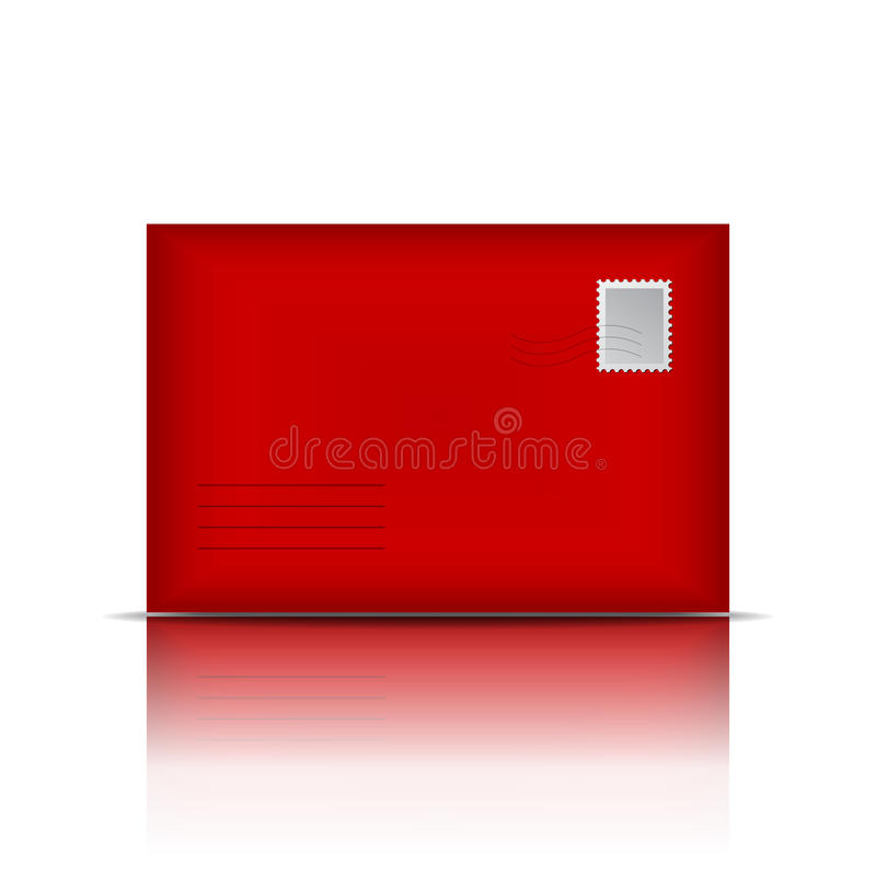 Envelope vermelho ilustração do vetor