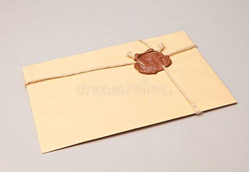 Download Envelope with wax seal stock photo. Image of paper, wrapped - 32470274