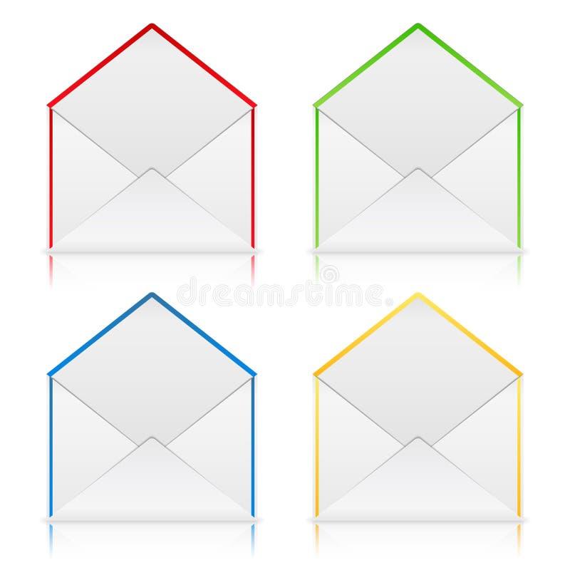 Envelopes ilustração do vetor