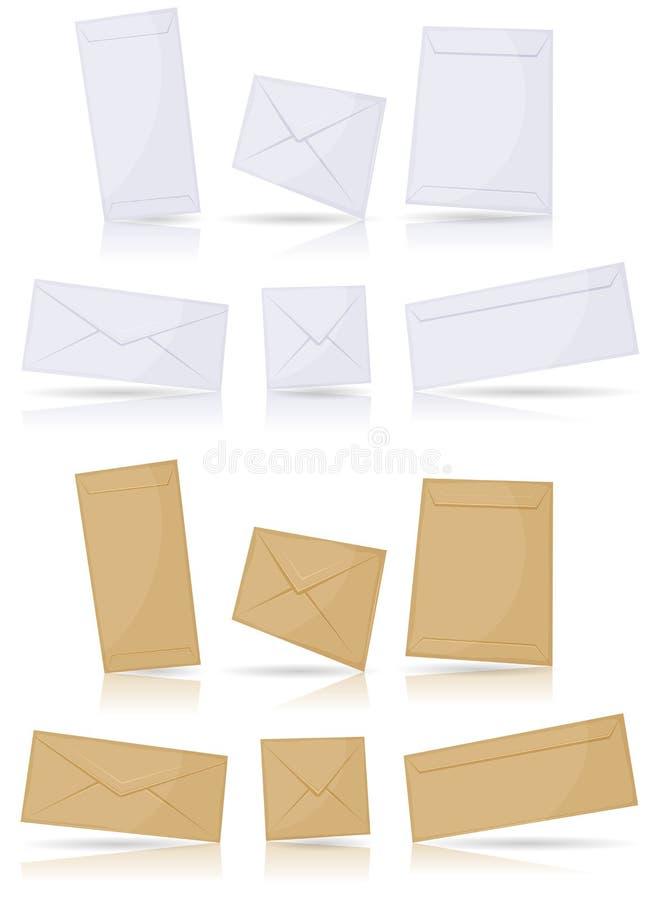 Envelopes ajustados ilustração stock