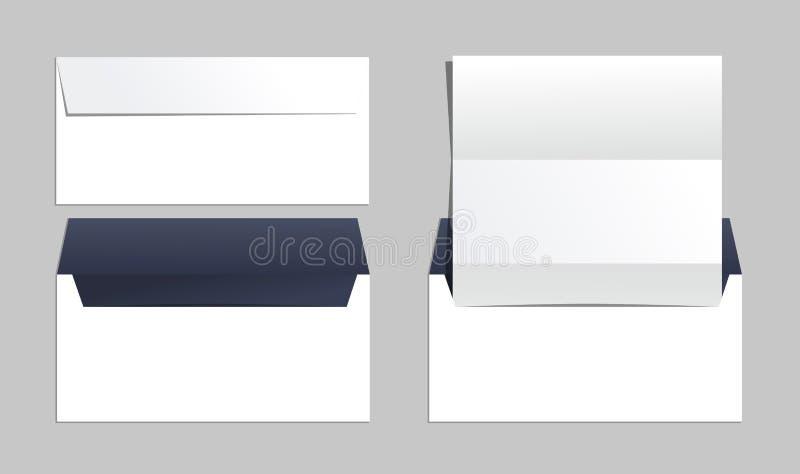 Envelopes ajustados de moldes da identidade corporativa Escritório para negócios ilustração do vetor