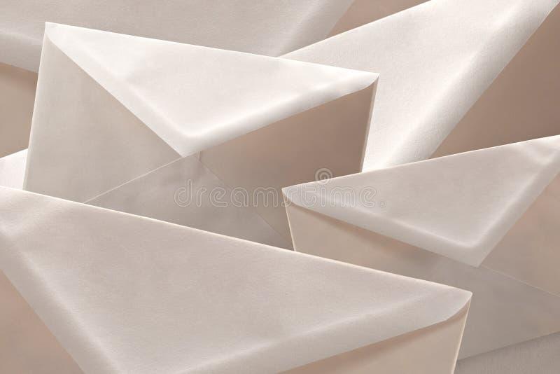 Envelopes background royalty free stock photo