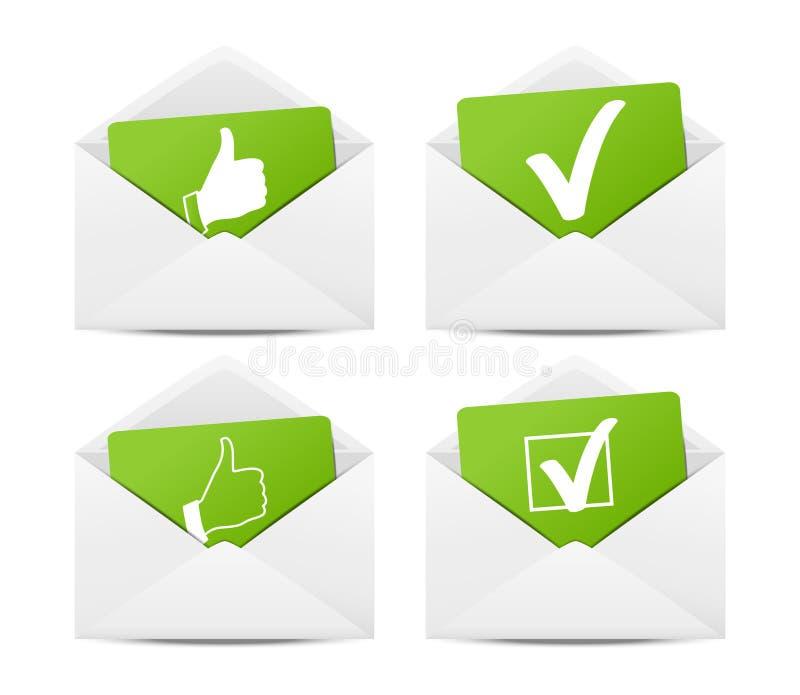 Envelopes bem escolhidos ilustração royalty free