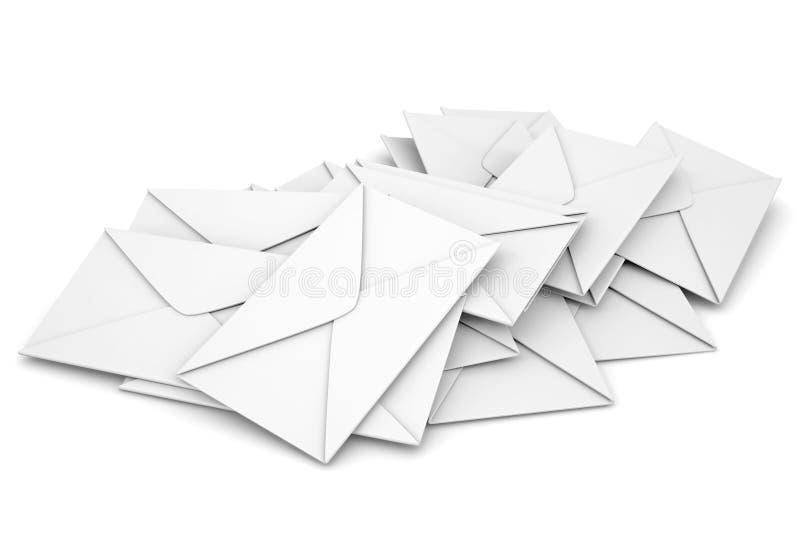 Envelopes brancos ilustração royalty free