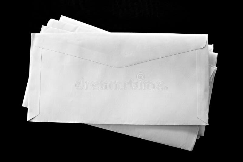 Envelopes brancos fotografia de stock royalty free