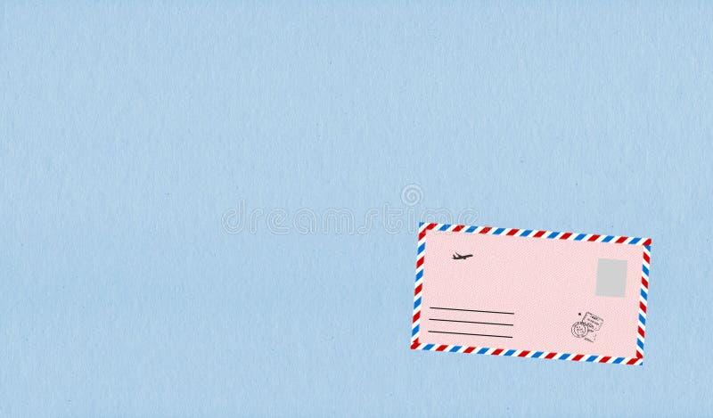 Envelopes cor-de-rosa com grânulo ilustração do vetor