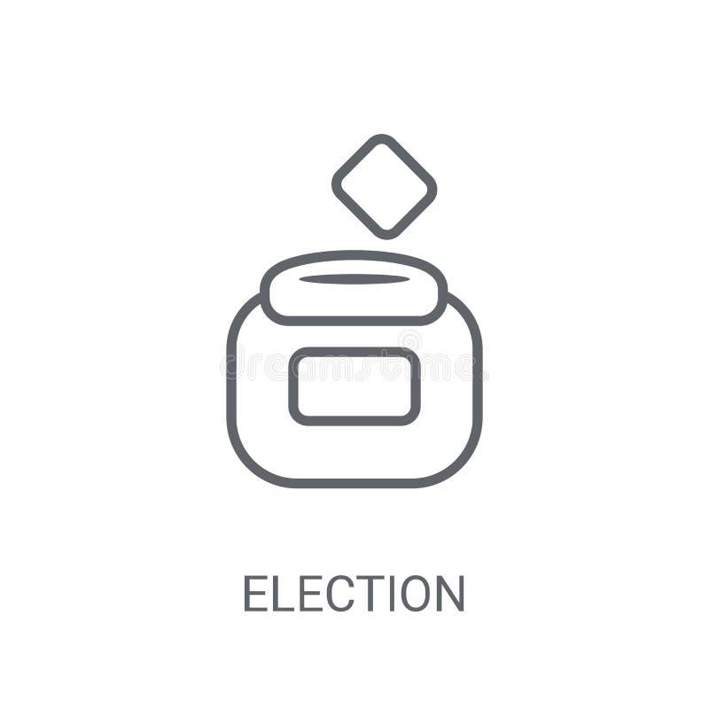 Envelopes da eleição e ícone da caixa Envelopes na moda da eleição e b ilustração stock