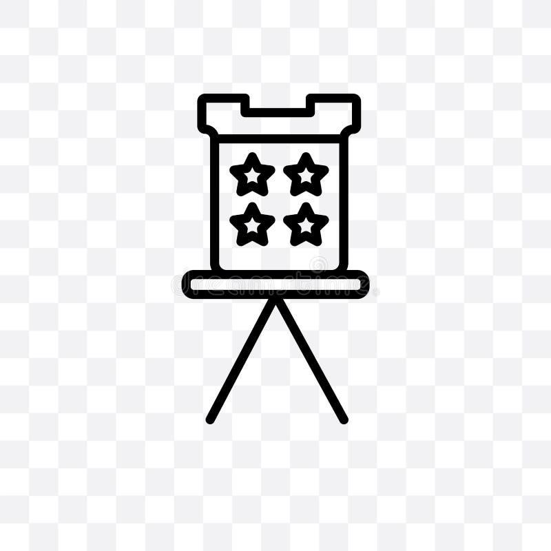 Envelopes da eleição e ícone linear do vetor da caixa isolado no fundo, em envelopes da eleição e no conceito transparentes da tr ilustração royalty free