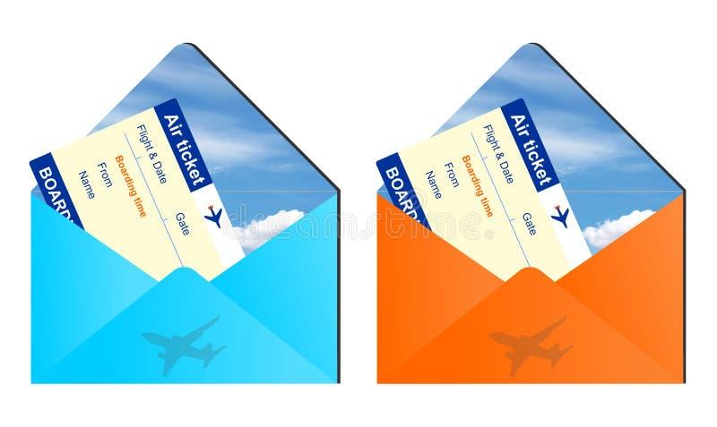 Envelopes da viagem aérea ilustração stock