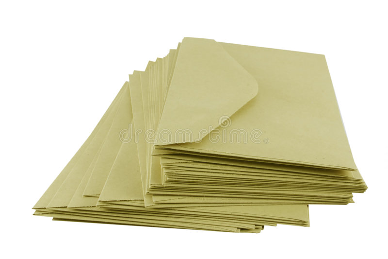 Envelopes de Brown fotos de stock royalty free