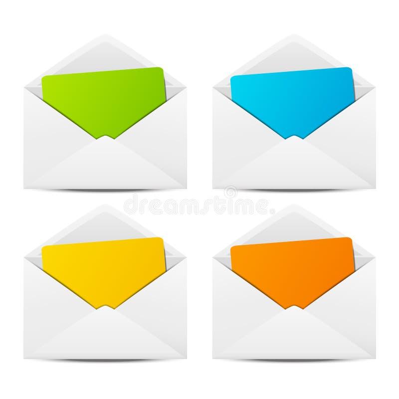 Envelopes de papel ilustração stock