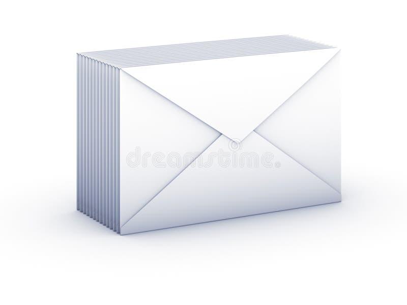 Envelopes do bloco ilustração royalty free