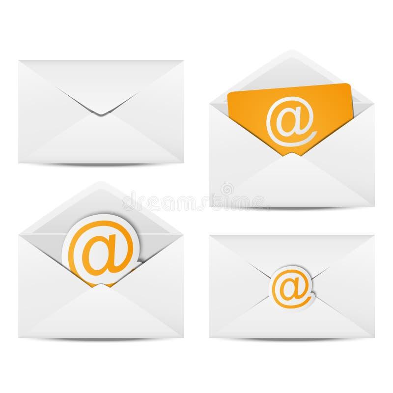 Envelopes do email ilustração royalty free