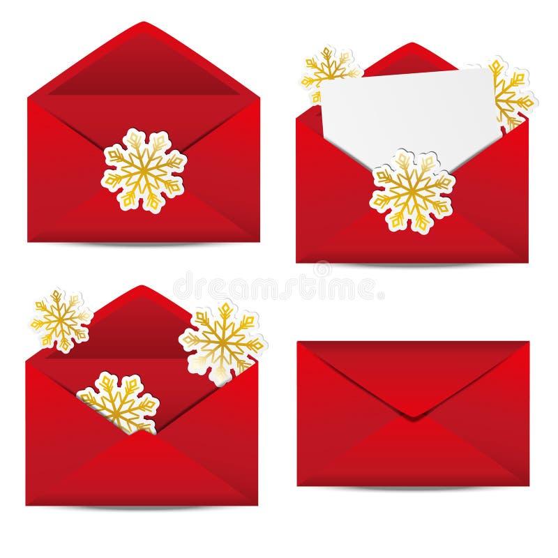 Envelopes do Natal ilustração do vetor