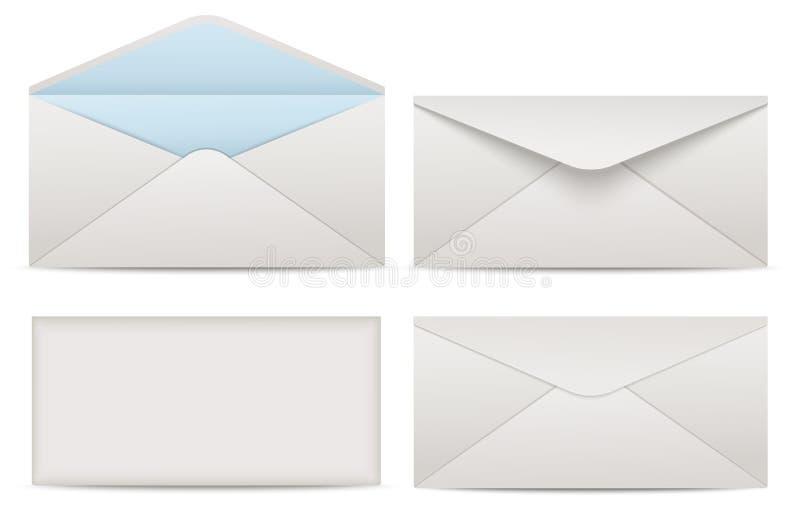 Envelopes do papel vazio para seu projeto ilustração do vetor