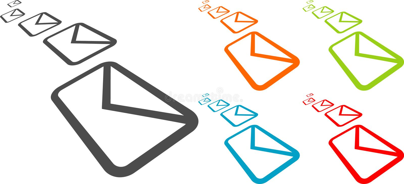 Envelopes do vetor ilustração stock