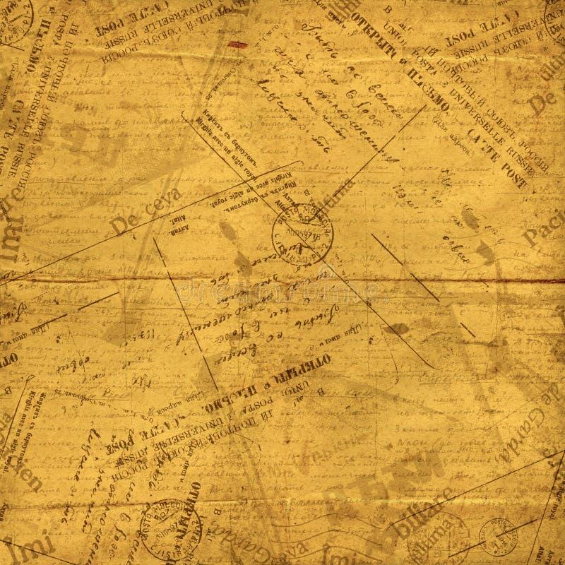 Envelopes do vintage, letras velhas e originais ilustração do vetor