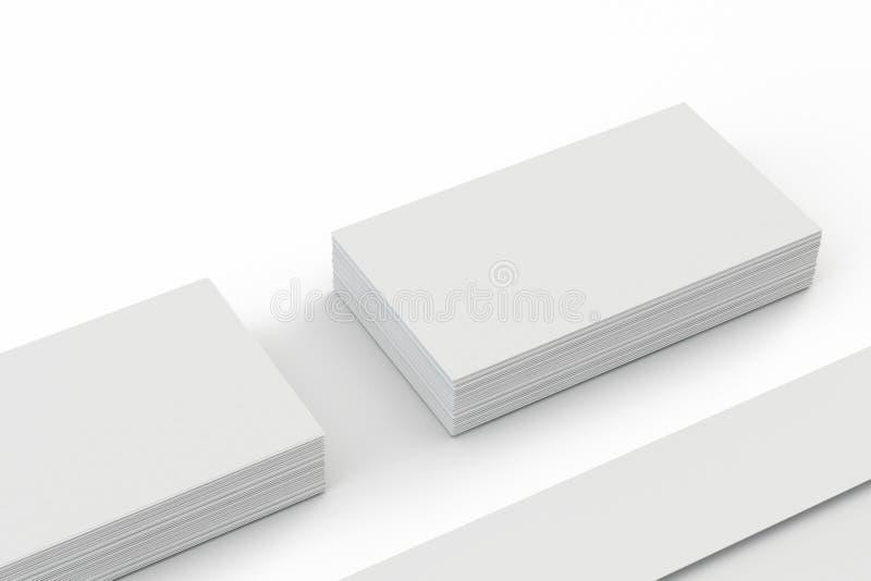 Envelopes e cartão vazios no branco ilustração stock
