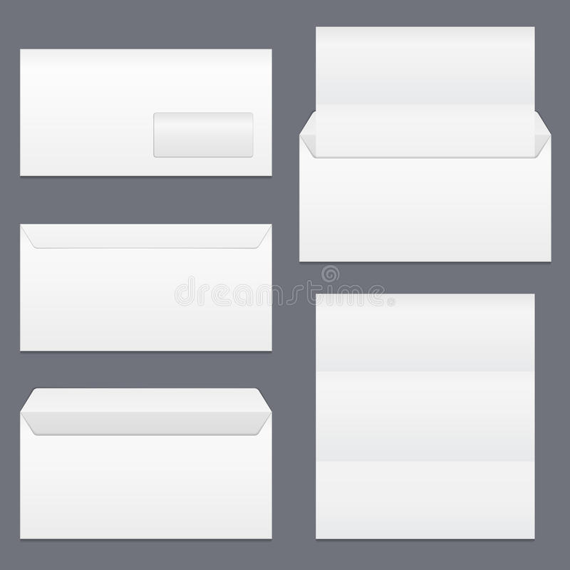 Envelopes e papel ilustração do vetor