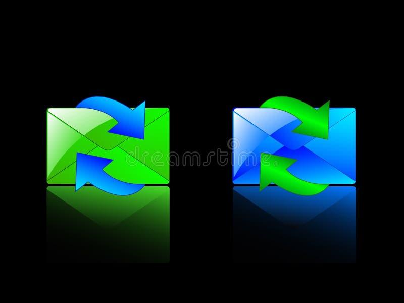 Envelopes e setas gráficos ilustração stock