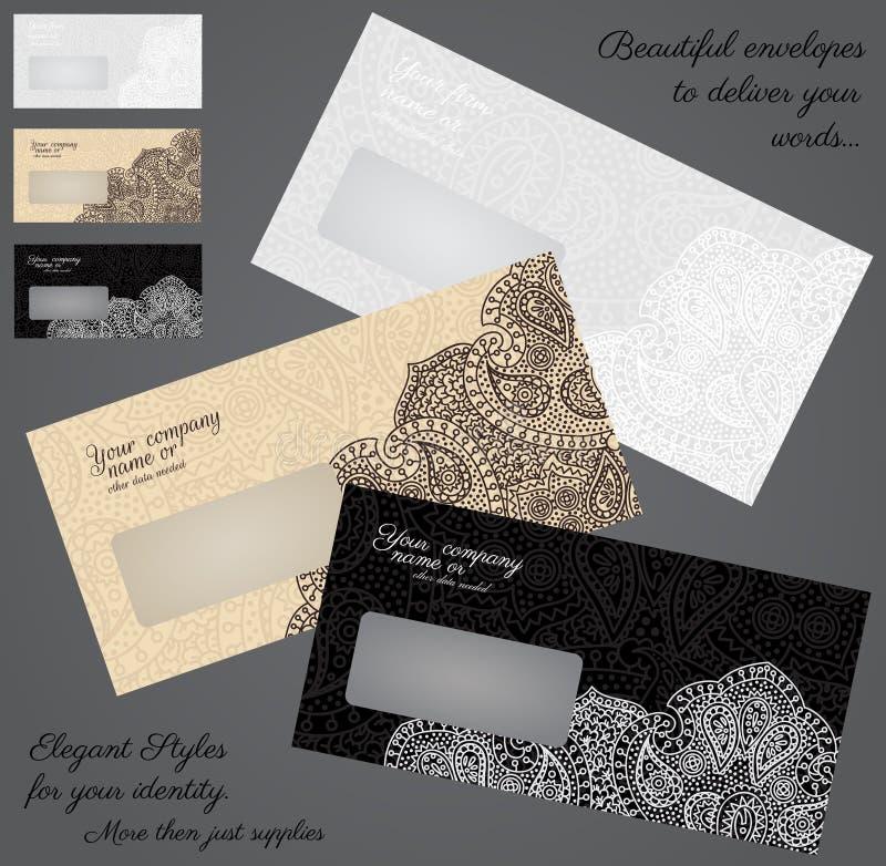 Envelopes elegantes ilustração do vetor