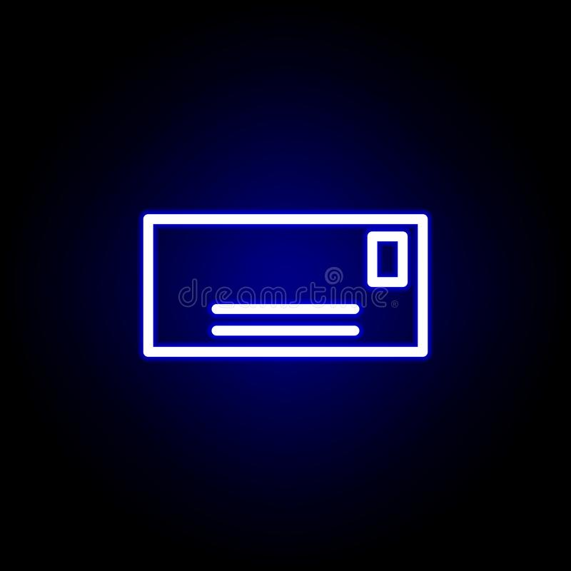 Envelopes icon in neon style. Can be used for web, logo, mobile app, UI, UX royalty free illustration