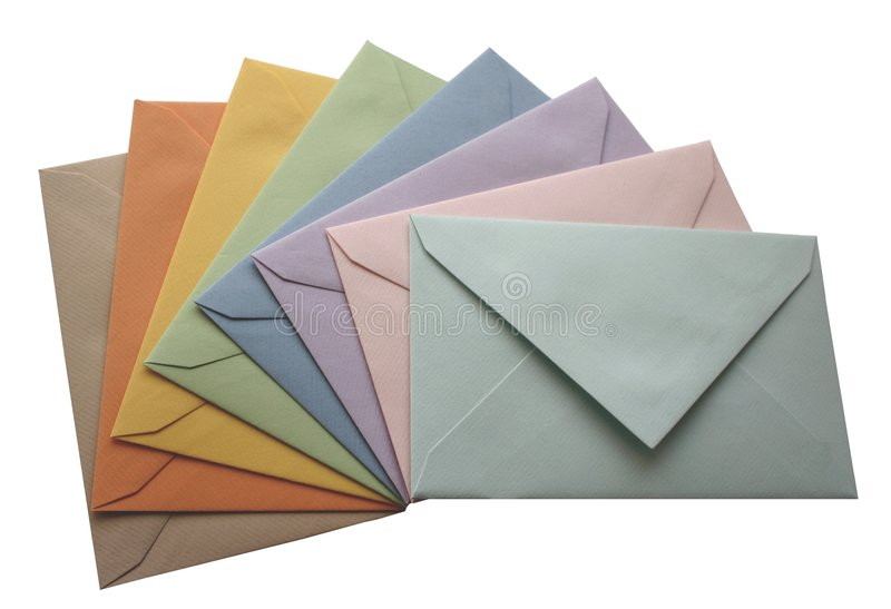 Envelopes isolated stock photo