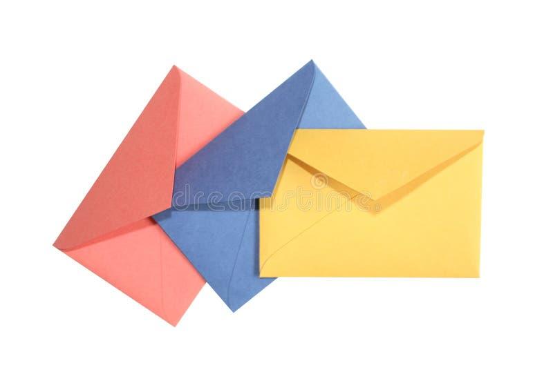 Envelopes no branco imagens de stock