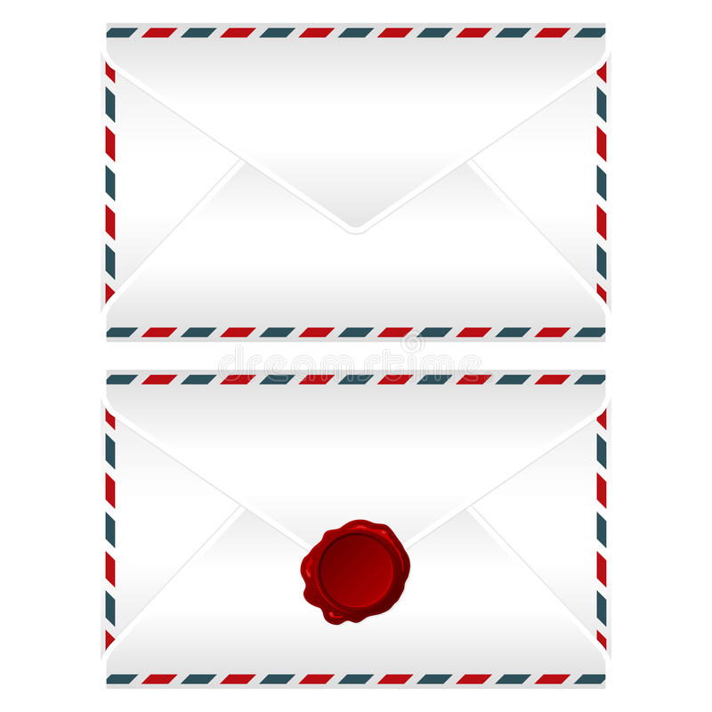 Download Envelopes over white stock vector. Illustration of envelope - 24900945