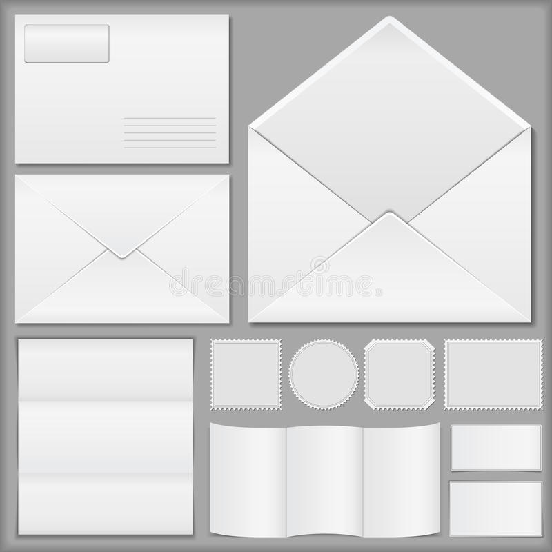 Download Envelopes, Paper And Postage Stamps Stock Vector - Image: 25445241