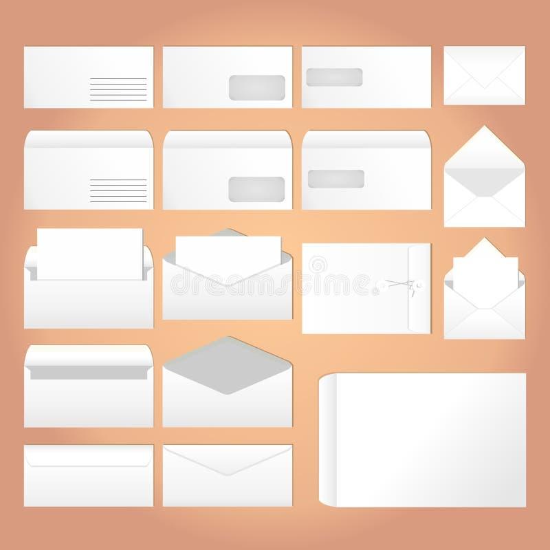 Envelopes para letras ilustração royalty free