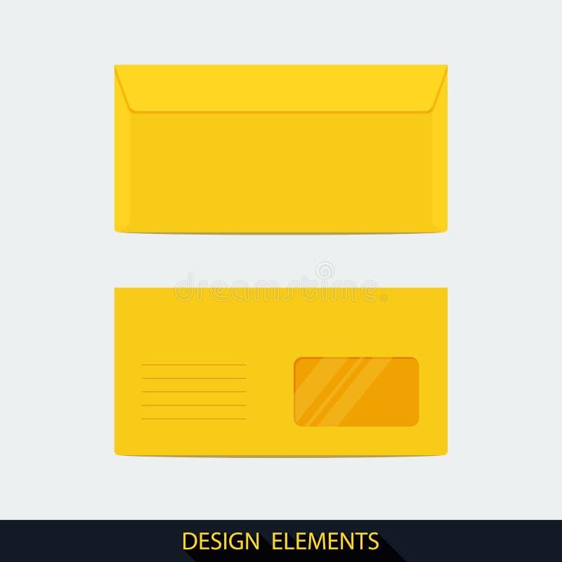 Envelopes para produtos relativos à promoção, cartões de banco ilustração royalty free