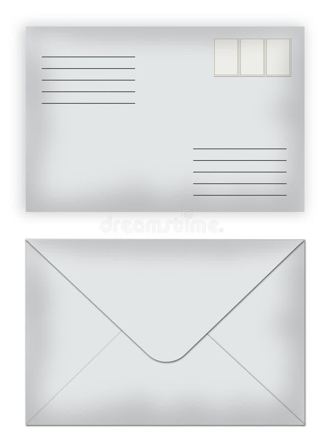 Envelopes selados ilustração stock