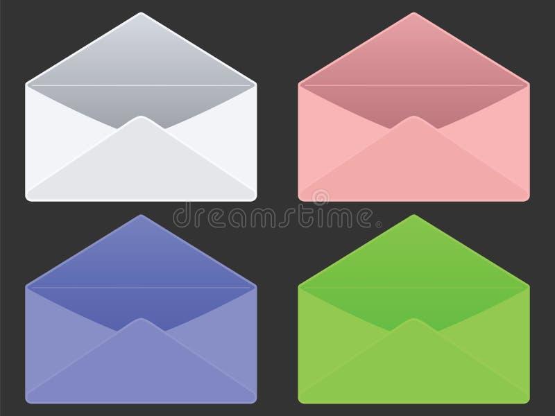 Envelopes vazios ilustração stock
